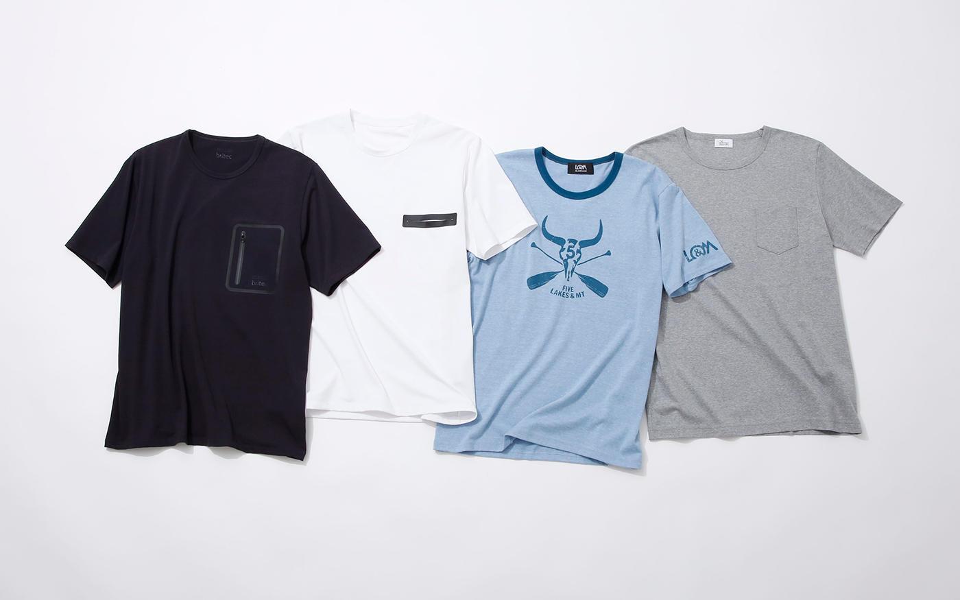 夏到来!で気になる汗の悩みに、  機能素材Tシャツ、大集合!