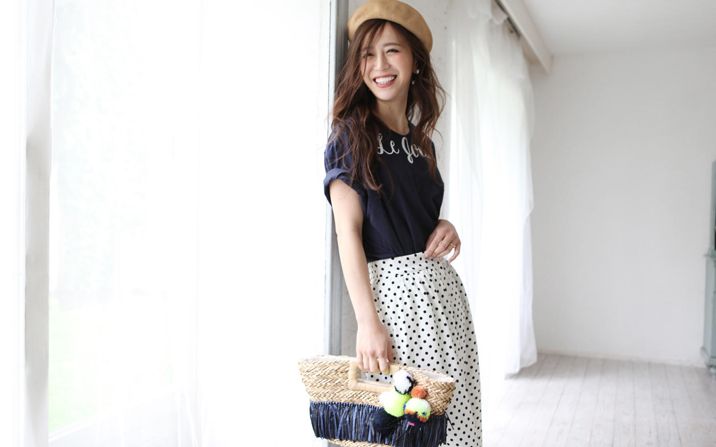 モデル丸山悠美さんと||ル ジュールがコラボ!||大人が着られるTシャツが完成