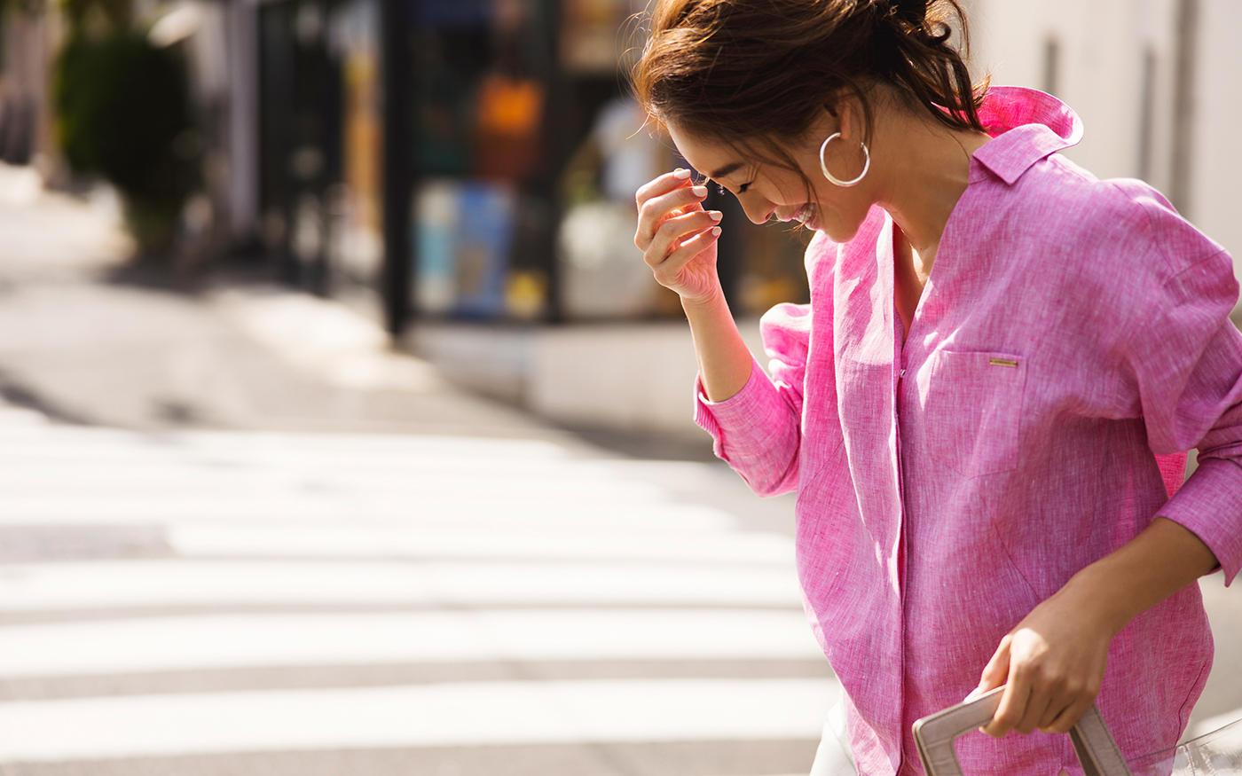 さらりと爽やか! ||キレイ色の「リネンシャツ」