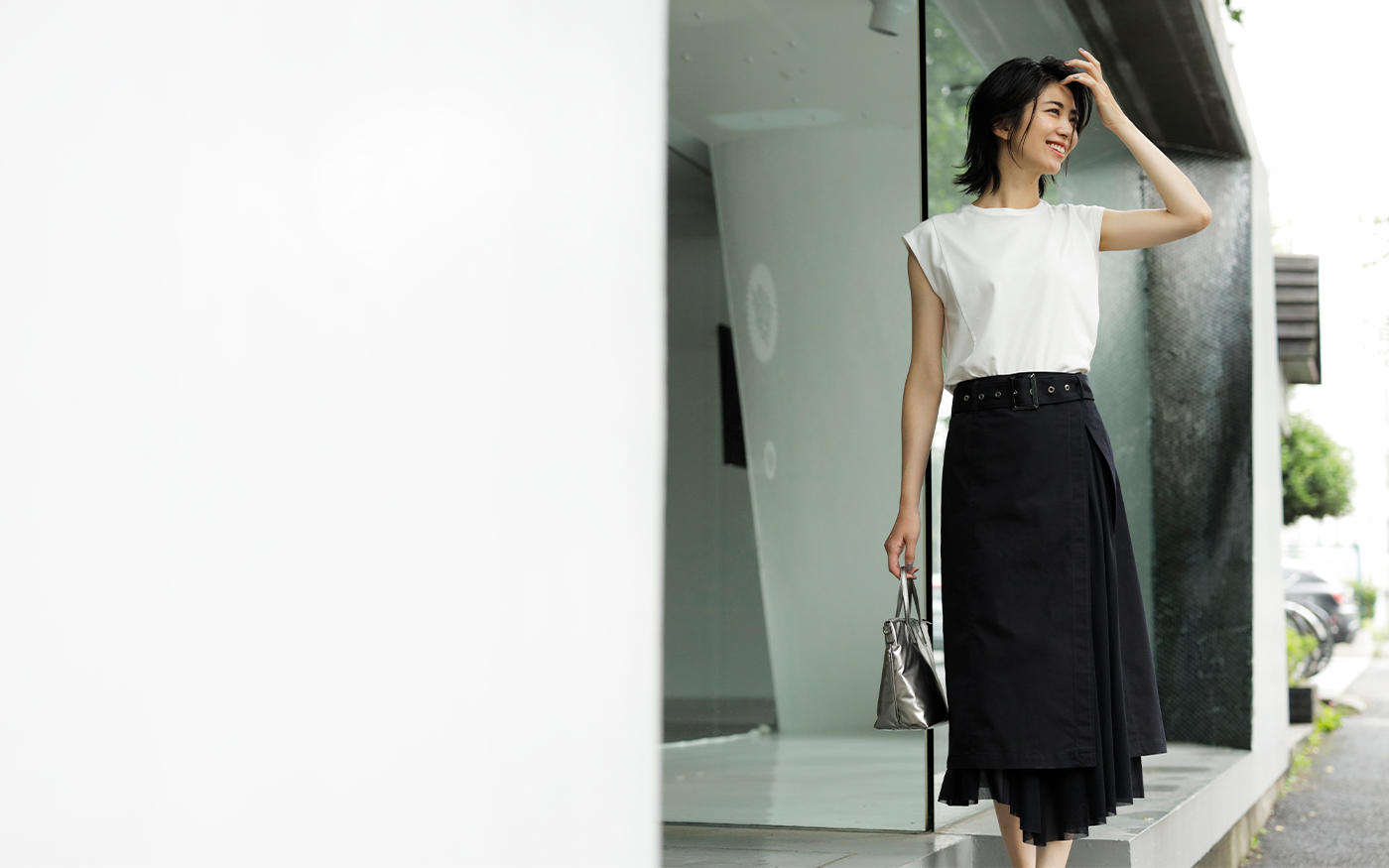 おしゃれ度が一気に上がる!   ほんのりモードな  「デザインスカート」