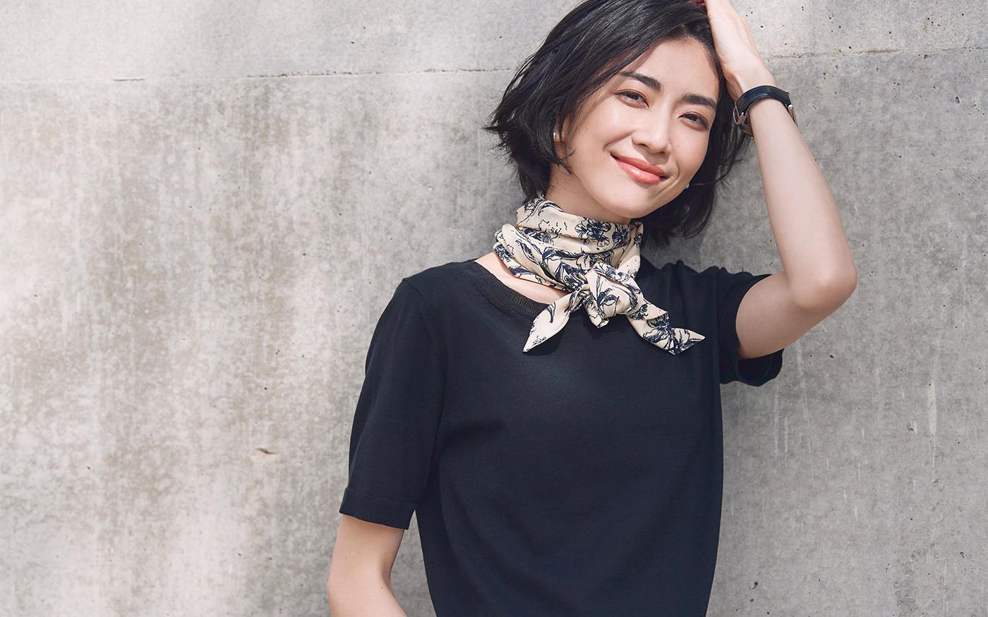 シンプル服が見違える! ||スカーフアレンジ TOP 3