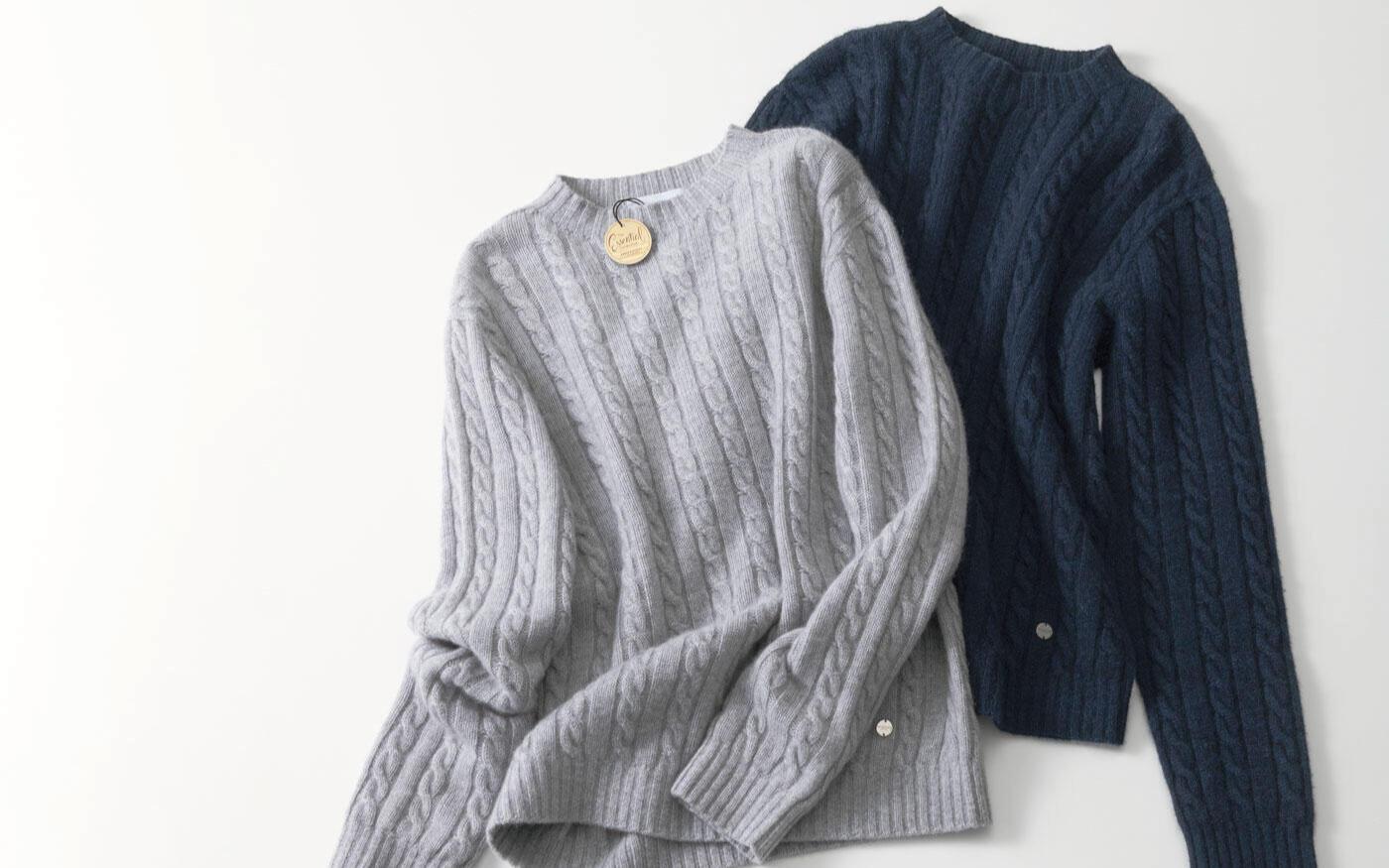 人気スタイリスト村山佳世子さん提案   リュクス感ある大人の着回しニットスタイル   エッセンシャルコレクション